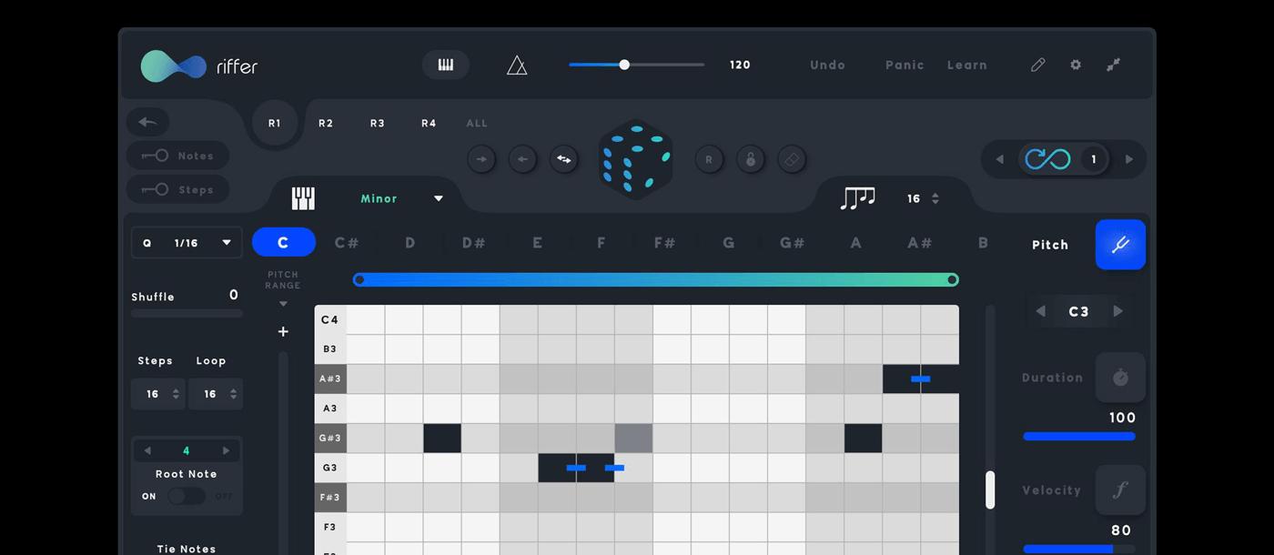 Audiomodern Riffer 3.0 Mac 破解版 智能MIDI工具-麦氪搜(iMacso.com)
